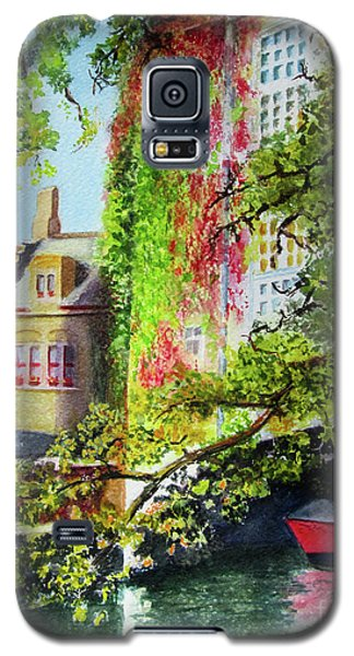 Galaxy S5 Case featuring the painting Hiding by Karen Fleschler