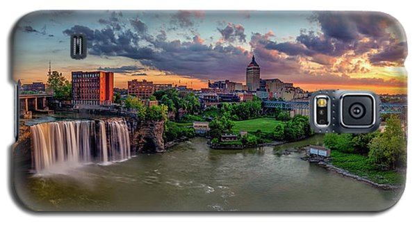High Falls Panorama Galaxy S5 Case by Mark Papke