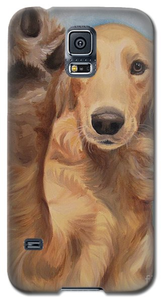 Galaxy S5 Case featuring the painting High Five by Jindra Noewi