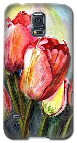 Galaxy S5 Case featuring the painting High In The Sky by Harsh Malik