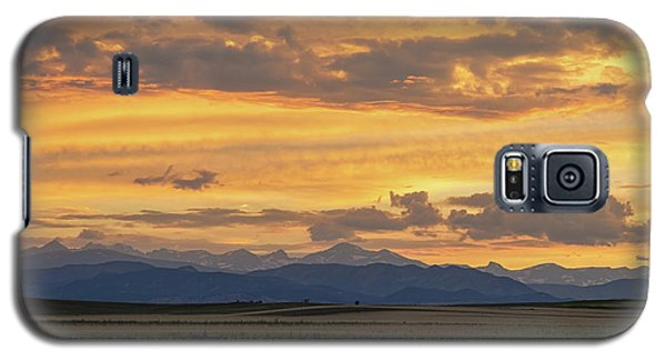 Galaxy S5 Case featuring the photograph High Plains Meet The Rocky Mountains At Sunset by James BO Insogna