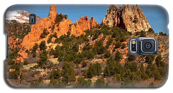 Galaxy S5 Case featuring the photograph High Point Rock Towers by Adam Jewell