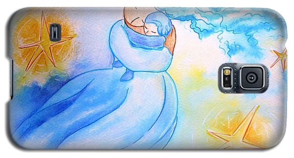 Galaxy S5 Case featuring the painting Higher Then The Stars by Gioia Albano