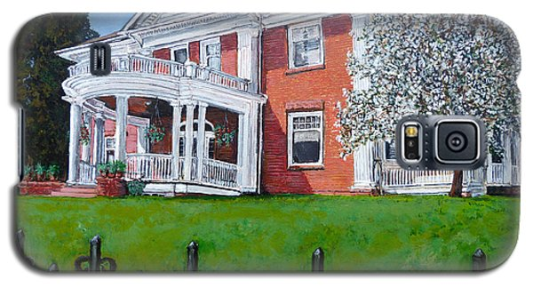 Galaxy S5 Case featuring the painting Highland Homestead by Tom Roderick