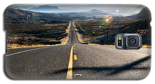Galaxy S5 Case featuring the photograph Highway 170 To Big Bend by Allen Biedrzycki