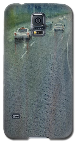 Galaxy S5 Case featuring the painting Highway On The Rain02 by Helal Uddin