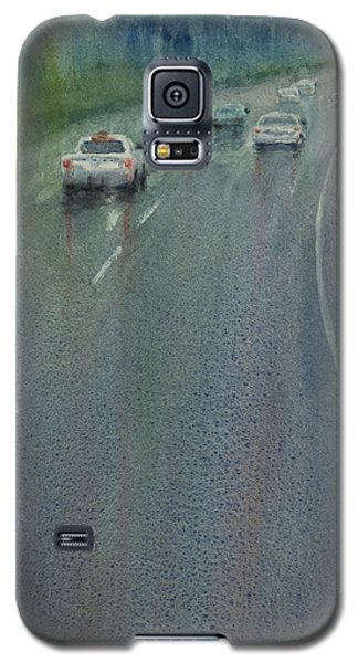 Highway On The Rain02 Galaxy S5 Case by Helal Uddin