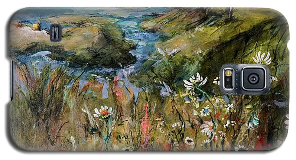 Hill Top Wildflowers Galaxy S5 Case by Sharon Furner