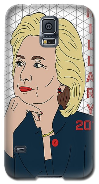 Hillary Clinton 2016 Galaxy S5 Case by Nicole Wilson