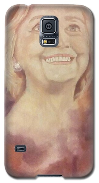 Galaxy S5 Case featuring the painting Hillary Clinton by Raymond Doward