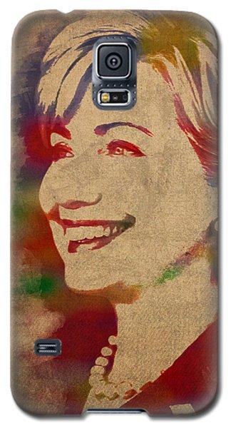 Hillary Rodham Clinton Watercolor Portrait Galaxy S5 Case