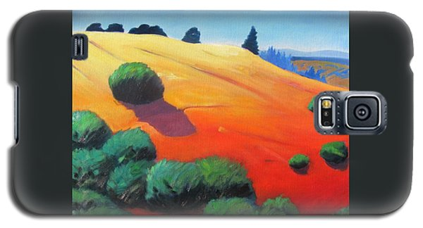 Galaxy S5 Case featuring the painting Hills And Beyond by Gary Coleman