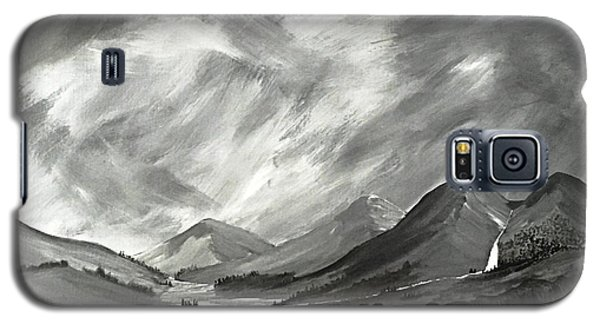 Galaxy S5 Case featuring the painting Hills And Heather  by Scott Wilmot