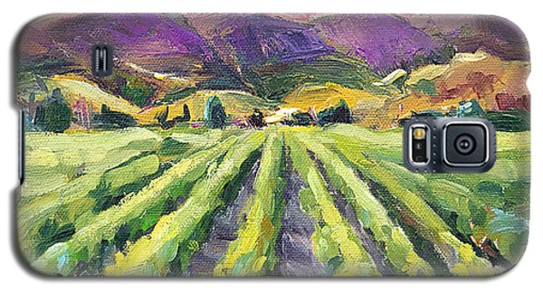 Galaxy S5 Case featuring the painting Hills Of Fire by Jennifer Beaudet