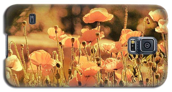 Galaxy S5 Case featuring the painting Hillside Poppies And Sunset by Douglas MooreZart