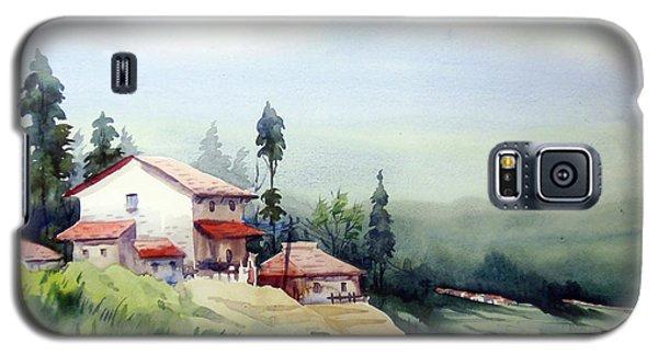 Galaxy S5 Case featuring the painting Himalaya Village by Samiran Sarkar