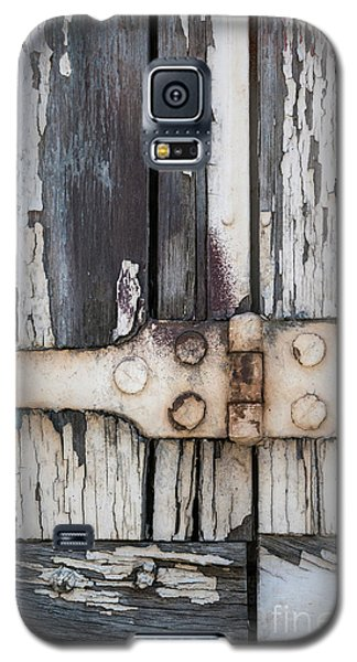 Galaxy S5 Case featuring the photograph Hinge On Old Shutters by Elena Elisseeva