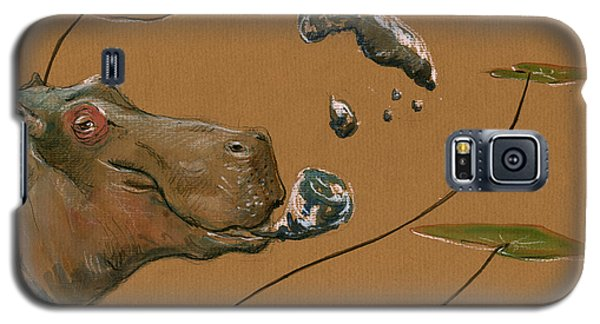Hippo Bubbles Galaxy S5 Case by Juan  Bosco