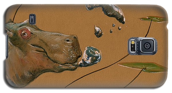 Hippo Bubbles Galaxy S5 Case by Juan  Bosco