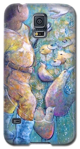Galaxy S5 Case featuring the painting His Dream by Eleatta Diver