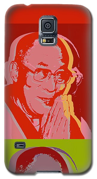 Galaxy S5 Case featuring the digital art His Holiness The Dalai Lama Of Tibet by Jean luc Comperat