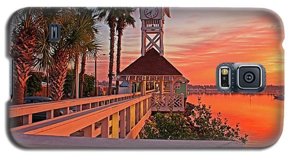 Historic Bridge Street Pier Sunrise Galaxy S5 Case