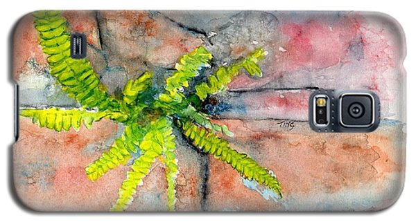 Galaxy S5 Case featuring the painting Historic Savannah Wall Weed by Doris Blessington
