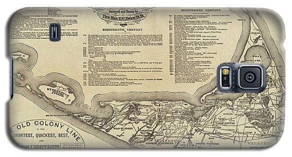 Historical Map Of Nantucket From 1602-1886 Galaxy S5 Case
