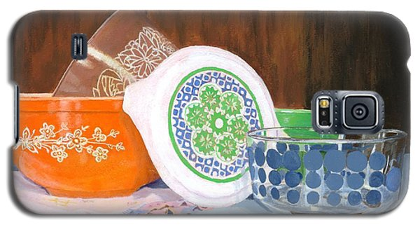 Galaxy S5 Case featuring the painting History Of Pyrex by Lynne Reichhart