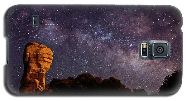 Hitchcock Pinnacle Nightscape -- Milky Way Galaxy S5 Case
