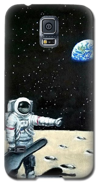 Hitchhiker With Guitar  Galaxy S5 Case