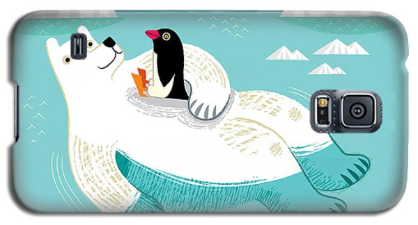 Polar Bear Galaxy S5 Case - Hitching A Ride by Oliver Lake