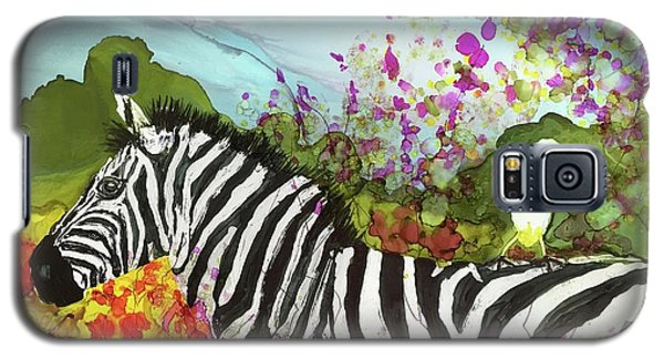 Galaxy S5 Case featuring the painting Hitching A Ride by Suzanne Canner