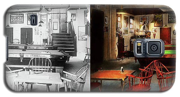 Galaxy S5 Case featuring the photograph Hobby - Pool - The Billiards Club 1915 - Side By Side by Mike Savad