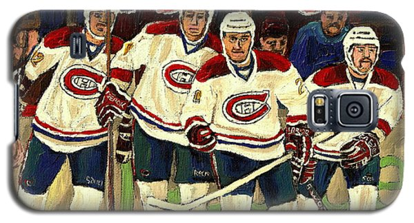 Hockey Art The Habs Fab Four Galaxy S5 Case