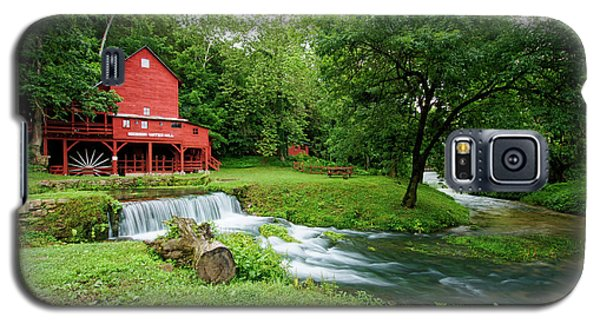 Galaxy S5 Case featuring the photograph Hodgson Water Mill And Spring by Cricket Hackmann
