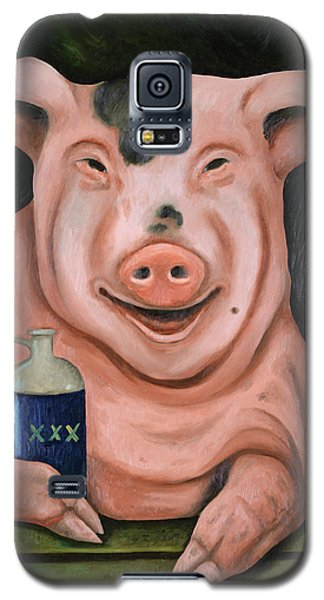 Galaxy S5 Case featuring the painting Hogging The Moonshine by Leah Saulnier The Painting Maniac