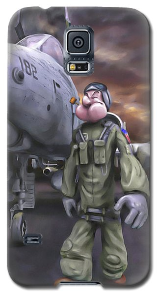 Galaxy S5 Case featuring the painting Hogman by Dave Luebbert
