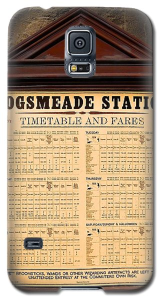 Galaxy S5 Case featuring the photograph Hogsmeade Station Timetable by Juergen Weiss
