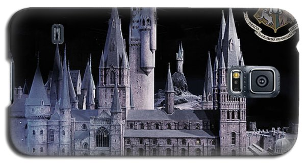 Galaxy S5 Case featuring the mixed media Hogwards School  by Gina Dsgn