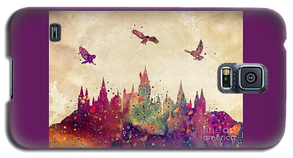 Hogwarts Castle Watercolor Art Print Galaxy S5 Case
