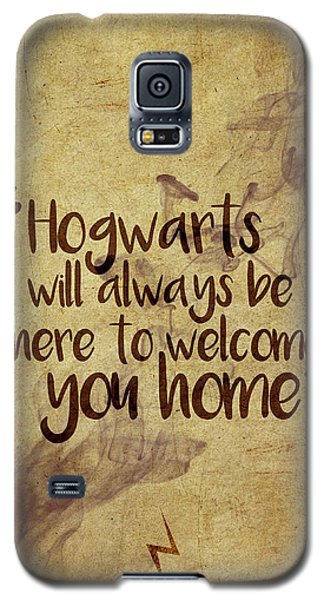 Wizard Galaxy S5 Case - Hogwarts Is Home by Samuel Whitton