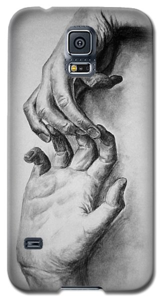 Galaxy S5 Case featuring the drawing Hold On by Rachel Hames