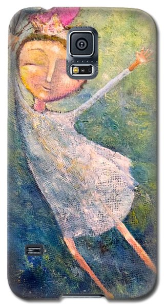 Galaxy S5 Case featuring the painting Hold On Tight by Eleatta Diver
