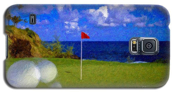 Galaxy S5 Case featuring the photograph Fantastic 18th Green by David Zanzinger