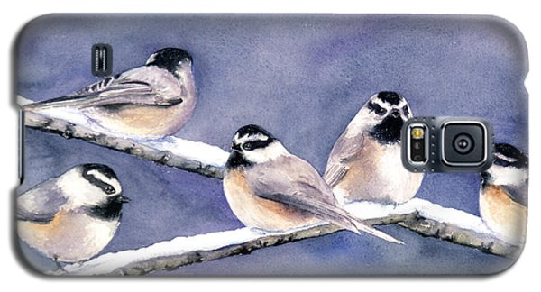 Holiday Chickadees Galaxy S5 Case