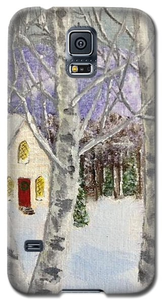 Galaxy S5 Case featuring the painting Holiday In The Country by Cynthia Morgan