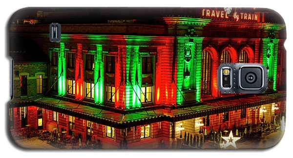 Holiday Lights At Union Station Denver Galaxy S5 Case