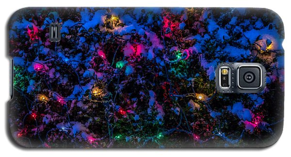 Holiday Lights In Snow Galaxy S5 Case
