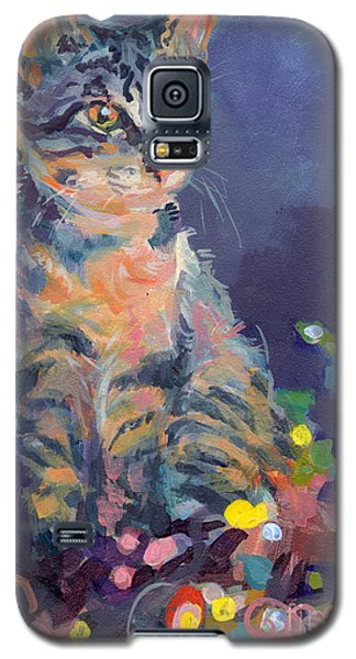Cats Galaxy S5 Case - Holiday Lights by Kimberly Santini